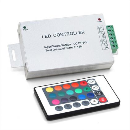 433mhz Aluminum dc 12v RF rgb led strip 24 key remote controller with ce & rohs