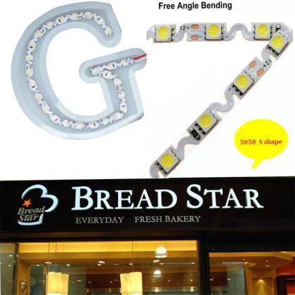 New  S shape  5050 led strip 5M  300 Leds 12V Ultra narrow 6mm for  Signages Channel Light Strip Bendable billboard lamps Replace LED Module