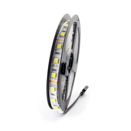 5m 300leds  ww+w CCT led strip kit dimmable  flexible strip light